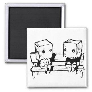 Love at First Sight 2 Inch Square Magnet