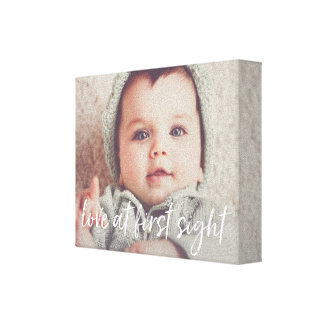 Love at First Sight Baby Photo Canvas Print