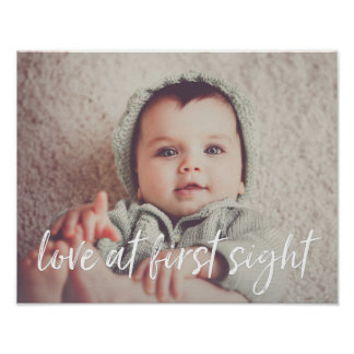 Love at First Sight Baby Photo Poster