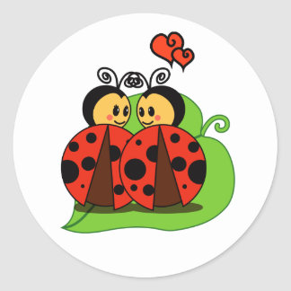 Love at first sight classic round sticker
