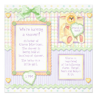 Love at First Sight Lamb Baby Shower Invitation