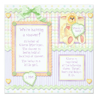 Love at First Sight, Lamb Baby Shower Invitation