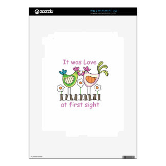 Love At First Sight Decals For iPad 2