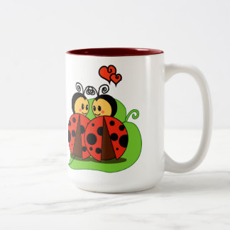 Love at first sight Two-Tone coffee mug