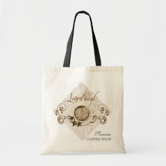 Love at First Sip Cappuccino art Business Tote Bag
