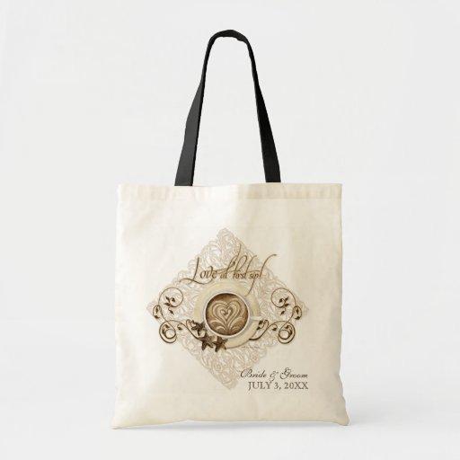 Love at First Sip Cappuccino Wedding Bridal Bag