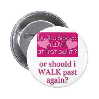 love at first site 2 inch round button