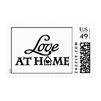 Love at home postage stamps