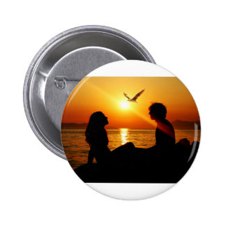 Love At Sunset Button