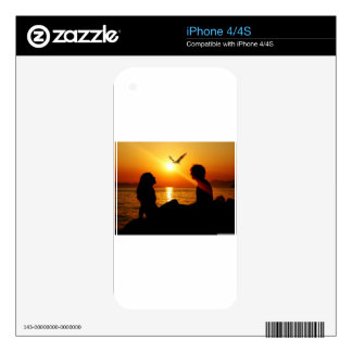 Love At Sunset iPhone 4 Decal