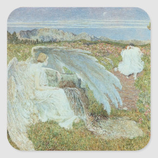 Love at the Fountain of Life, 1896 Square Sticker