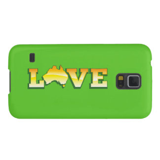 LOVE Australia Aussie Love Heart Map AWESOME! Cases For Galaxy S5
