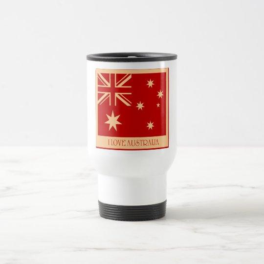 Love Australia - Flag Vintage Mugs