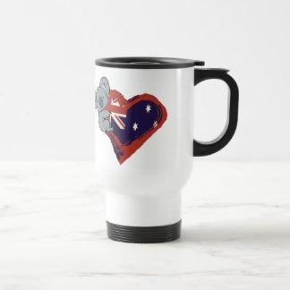 Love Australia - Koala Hugging Flag Travel Mug