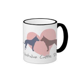 Love Australian Cattle Dogs Ringer Mug