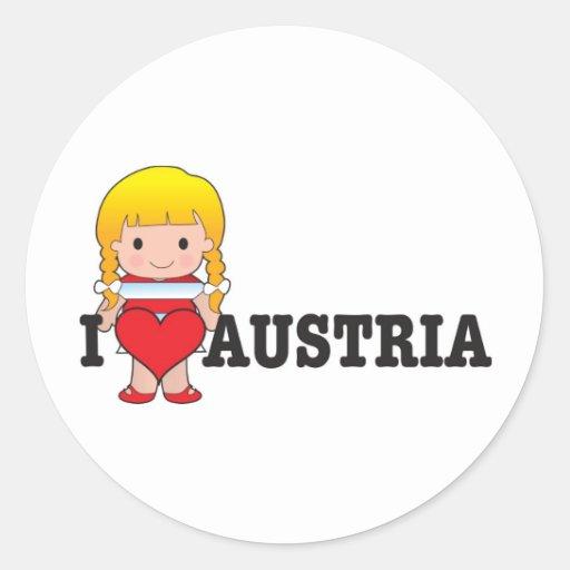 Love Austria Classic Round Sticker