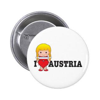 Love Austria Pinback Button
