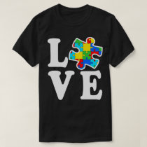 Love Autistic Puzzle Autism Awareness T-Shirt