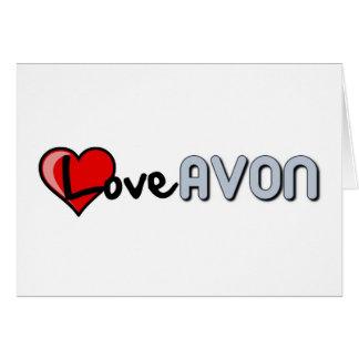 Love AVON Greeting Card