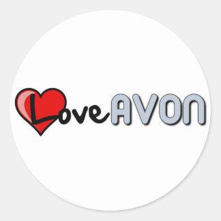 Love AVON Classic Round Sticker
