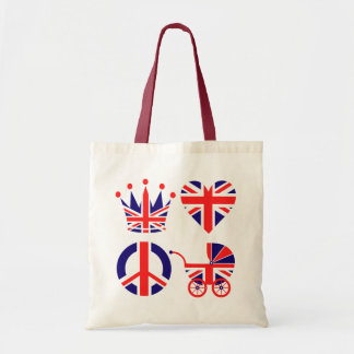 Love, Baby, Crown Budget Tote Bag