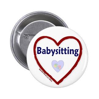 Love Babysitting Pinback Button