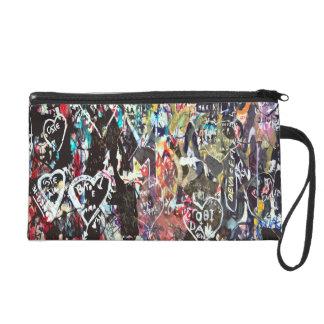 Love background wristlet purse