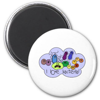 Love Bacteria 2 Inch Round Magnet