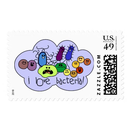 Love Bacteria Postage Stamp