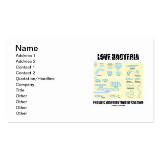 Love Bacteria Prolific Distributors Of Culture Double-Sided Standard Business Cards (Pack Of 100)