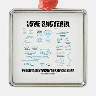 Love Bacteria Prolific Distributors Of Culture Square Metal Christmas Ornament