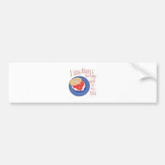 Love Bagels Bumper Sticker