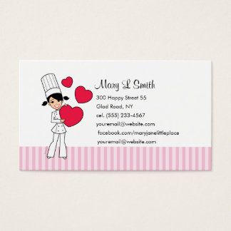 Love Baking Personal Calling Card - Customized