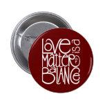 Love Balance White Button