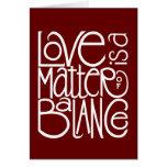 Love Balance White Card
