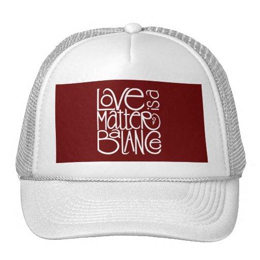 Love Balance White Hat