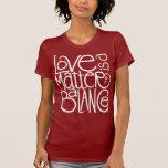 Love Balance White Ladies T-shirt