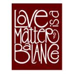 Love Balance White Postcard