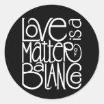 Love Balance White Sticker