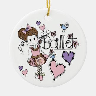 Love Ballet Ceramic Ornament