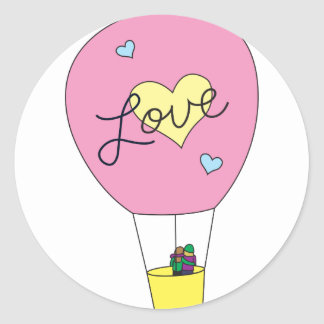 Love Balloon Classic Round Sticker