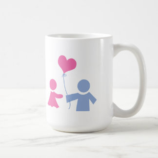 love balloon heart shape coffee mug