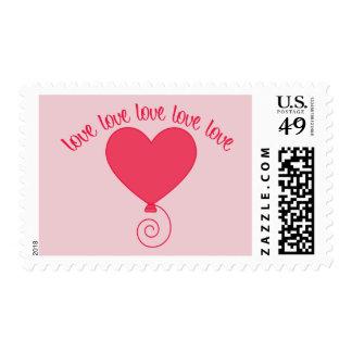 Love Balloon Postage
