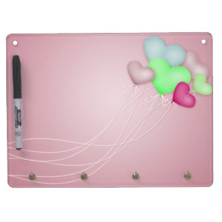 Love Balloons 2 Dry Erase Board With Keychain Holder