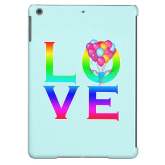 LOVE: Balloons in Shape of Heart with Wings iPad Air Cover