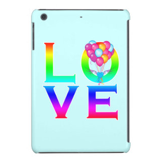 LOVE: Balloons in Shape of Heart with Wings iPad Mini Retina Cases