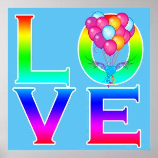 LOVE: Balloons Poster