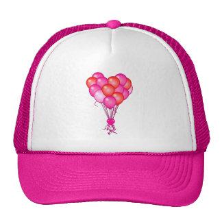 Love Balloons with Heart Trucker Hat
