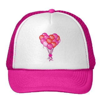 Love Balloons with Heart Trucker Hat