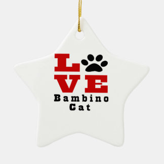 Love Bambino Cat Designes Ceramic Ornament
